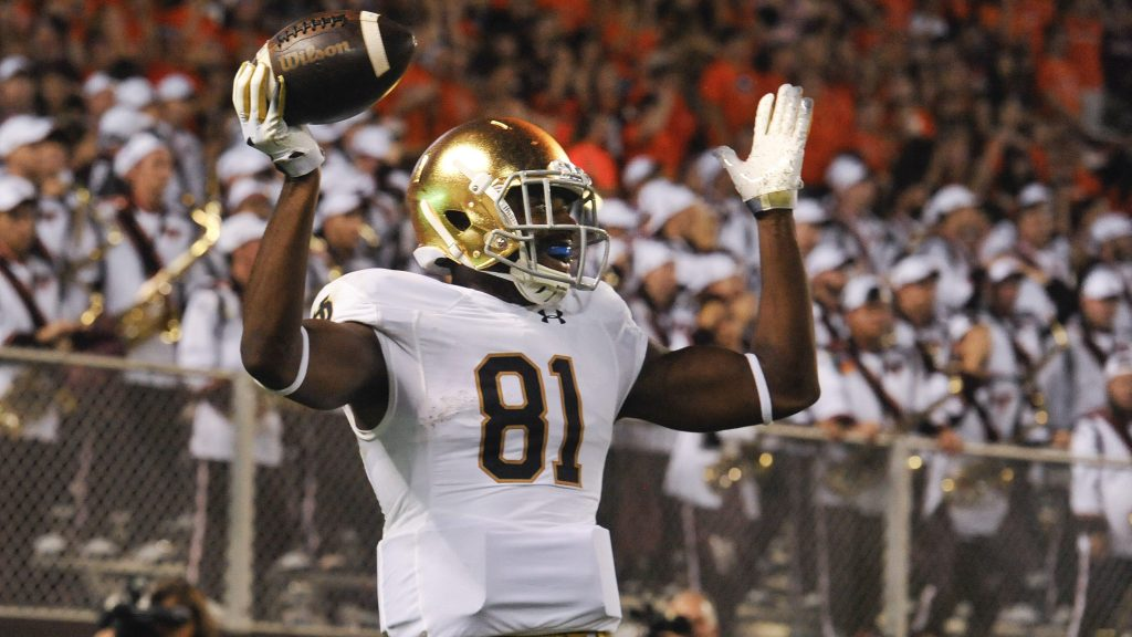 Notre Dame Dexter Williams Remove Any Doubts In 45 23 Victory At No 24 Virginia Tech Inside The Irish Nbc Sports