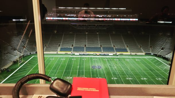 Notre Dame Stadium press box